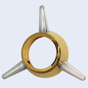 3-Bar Spinner gold and chrome