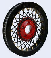 Spoke pulley for Harley Black
