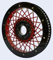 Spoke pulley for Harley Red