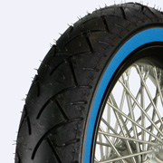 Blue wall tire