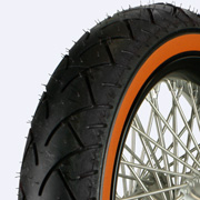 Orange wall tire