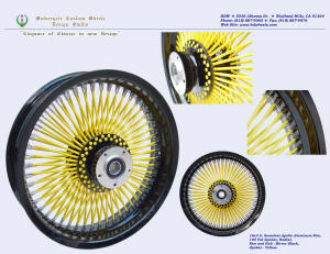 16x3.5, Apollo, Radial, Fat spokes, Vivid Black and Yellow