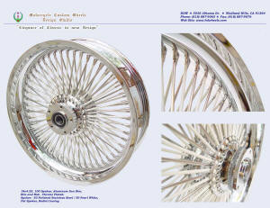 18x4.25, Sun rim, Radial, Fat spokes, Chrome, Pearl White, Polished