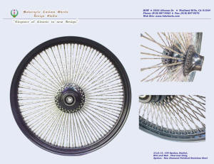 21x2.15, Steel rim, Radial, New Diamond spokes, Charcoal Gray