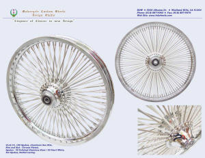 21x2.15, Sun rim, Radial, Fat spokes, Chrome, Pearl White, Polished