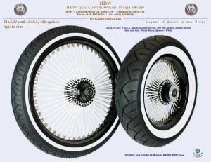 21x2.15 and 16x3.5, Apollo, Radial, Vivid Black, White, White wall tires