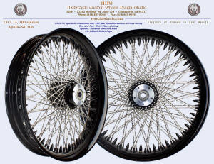 23x3.75, Apollo-SL, S-Cross, New Diamond spokes, Vivid Black, 25 Bullet tips