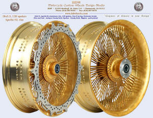 18x5.5, Apollo-SL, Fan-6, Antique Candy Gold, Perimeter brake