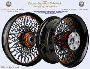 19x3.0 and 18x8.5, Apollo-SL, Vivid Black, Candy Copper, For V-Rod