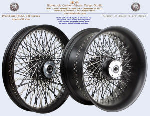 19x3.0 and 18x8.5, Apollo-SL, Denim Black, Star-15
