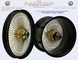 21x2.15 and 18x10.5, Apollo-SL, Radial, Vivid Black, Gold plating