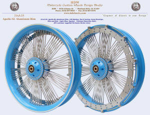 21x3.25, Apollo-SL, Fan-6, Light Blue, Ivory Pinstripe, Perimeter brake