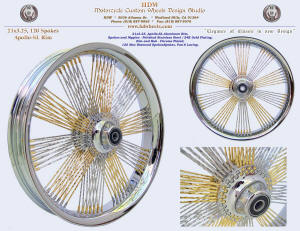 21x3.25, Apollo-SL, Fan-6, New Diamond spokes, Chrome and Gold plating