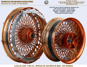 21x3.25 and 17x6.25 Apollo-SL 120 Twisted Candy Copper Perimeter brake