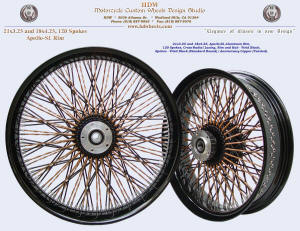 21x3.25 and 18x4.25, Apollo-SL, Cross-Radial, Twisted radial spokes, Vivid Black, Anniversary Copper