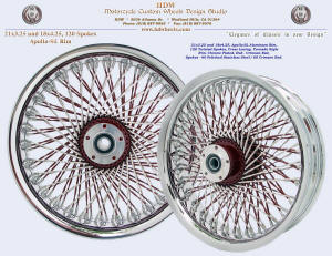 21x3.25 and 18x4.25, Apollo-SL, Twisted spokes, Chrome, Crimson Red Sunglo, Tornado style