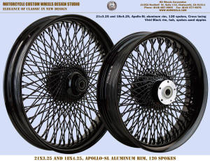 21x3.25 and 18x4.25 Apollo-SL 120 spokes Vivid Black