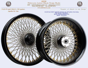 21x3.25 and 18x8.5, Apollo-SL, Vivid Black, Gold plated nipples