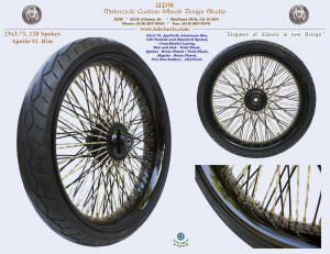 23x3.75, Apollo-SL, Cross-Radial, Twisted radial spokes, Vivid Black, Brass plating, Tire