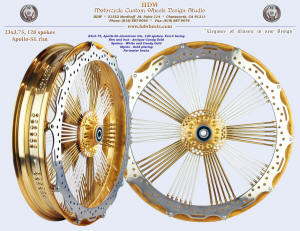 23x3.75, Apollo-SL, Fan-6, Antique Candy Gold, White, Gold plated nipples, Perimeter brake