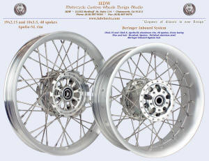 19x2.15 and 18x5.5, Apollo-SL, Brushed, Beringer inboard system
