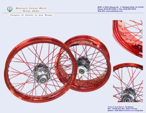 21x2.15 and 18x5.5, Excel aluminum rim, Candy Red, Black Chrome (powder coating), Fade spokes