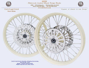21x2.15 and 21x3.0, Steel rim, Ivory, Radial rotors and sprocket