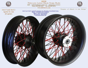 16x3.5 and 16x5.5, Apollo-SL, Cross-Radial, Black and Candy Red, 5 black bullet cap