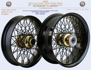 16x3.5 and 17x6.25, Apollo-SL, S-Cross, Semi Gloss Black, Candy Brass, Solid brass nipples