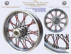 18x3.5, Apollo, S-Cross-Radial, Brushed, Fade Twisted spokes