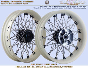 18x3.5 and 18x4.25 spokes wheel for Indian Scout