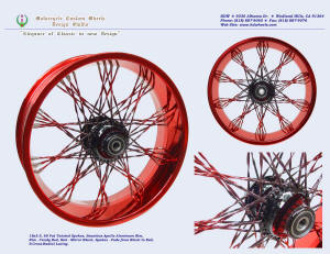 18x5, Apollo, S-Cross-Radial, Fade Fat Twisted spokes, Candy Red, Vivid Black
