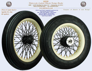 19x2.15 and 16x3.5, Apollo-SL, Matte Ivory, Denim Black, Gold (plated) nipples, Firestone tires