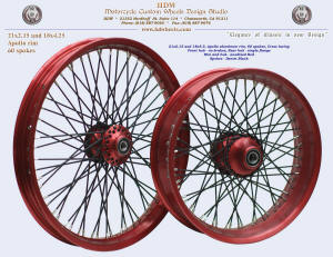 21x2.15 and 18x4.25, Apollo, Red anodizing, Denim Black, Spool (no brake) front hub