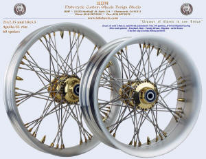 21x2.15 and 18x5.5, Apollo-SL, S-Cross-Radial, Brushed, Candy Brass, Solid brass nipples, 5 bullet pattern