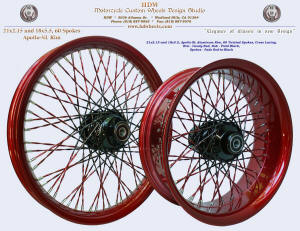 21x2.15 and 18x5.5, Apollo-SL, Fade Twisted spokes, Candy Red, Vivid Black