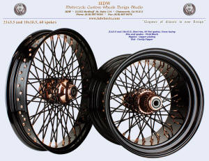 21x3.5 and 18x10.5, Steel rim, Vivid Black, Candy Copper, Copper plated nipples