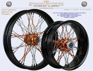 23x3.75 and 18x5.5 Apollo-SL, S-Cross-Radial, Twisted, Star-5, Vivid Black, Candy Copper
