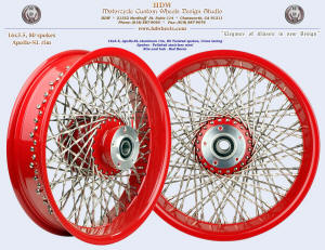 16x3.5, Apollo-SL, Twisted spokes, Red Baron