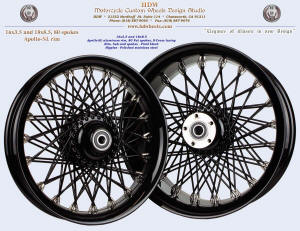 16x3.5 and 18x8.5, Apollo-SL, S-Cross, Fat spokes, Vivid Black