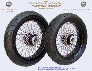 18x3.5 and 18x4.25, Apollo-SL, New Diamond spokes, Vivid Black, Tires