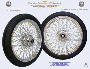 19x2.15, Steel rim, Chrome, Gold plated nipples, Avon MK II tire