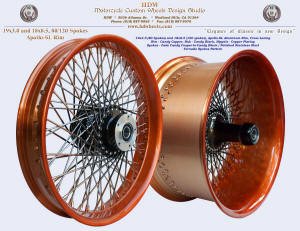 19x3.0 (80 spokes) and 18x10.5 (120 spokes), Apollo-SL, Candy Copper, Vivid Black, Fade spokes, Tornado style
