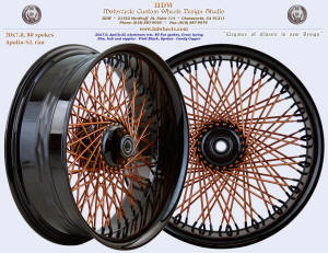 20x7.0, Apollo-SL, S-Cross, Fat spokes, Vivid Black, Candy Copper