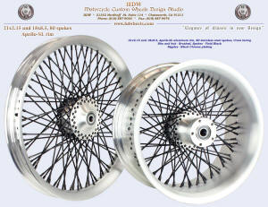 21x2.15 and 18x8.5, Apollo-SL, Brushed, Vivid Black, Black chrome plated nipples