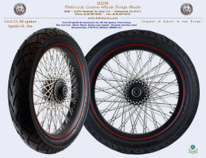 21x3.25, Apollo-SL, S-Cross, Fat spokes, Denim Black, Brushed, Red pinstripe, 140/70-21 Metzeler tire