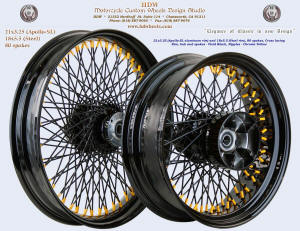 21x3.5 and 18x5.5, Steel rim, Vivid Black, Chrome Yellow