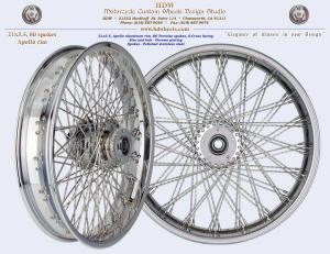 21x3.5, Apollo, S-Cross, Tortoise Shell spokes, Chrome