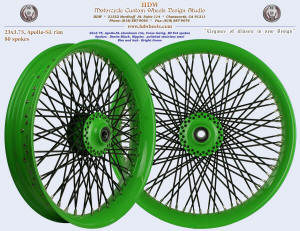 23x3.75, Apollo-SL, Fat spokes, Bright Green, Denim Black