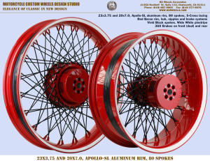 23x3.75 and 20x7.0 Apollo-SL S-Cross Black and Red Wide White pinstripe  360 brakes